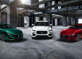 Colección Trofeo de Maserati: Ghibli, Levante y Quattroporte