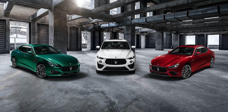 Presentando la nueva colección Trofeo de Maserati: Ghibli, Levante y Quattroporte