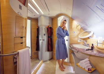 Ducha spa a bordo de Emirates