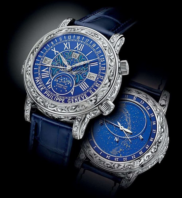 Sky Moon Tourbillon de Patek Philippe: Los mejores 5 relojes de lujo hechos a mano