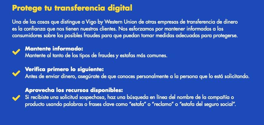 Vigo by Western Union lanza nuevos servicios digitales