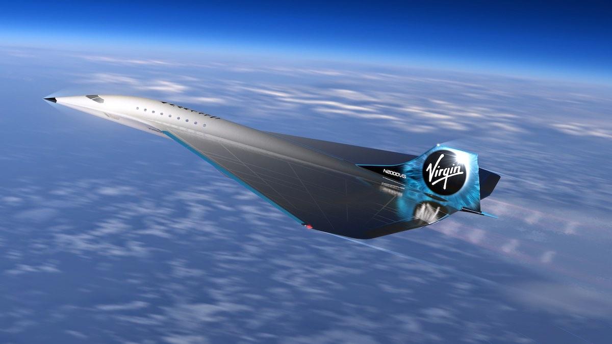 El avión supersónico Virgin Galactic