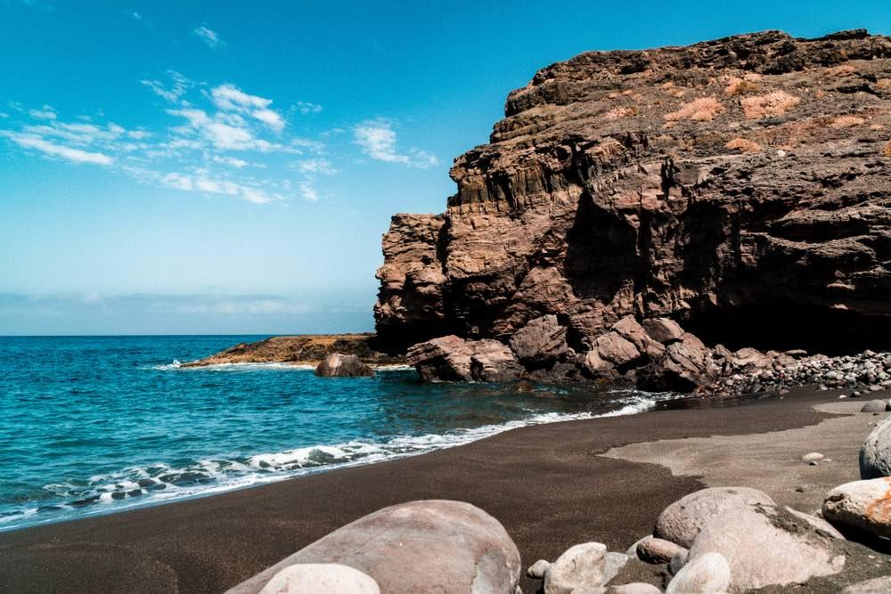 Playa de Guayedra en el Parque Natural Tamadaba (Gran Canaria, Islas Canarias).