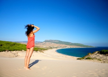 Playa de Bolonia en el Parque Natural del Estrecho (Tarifa, Cádiz).