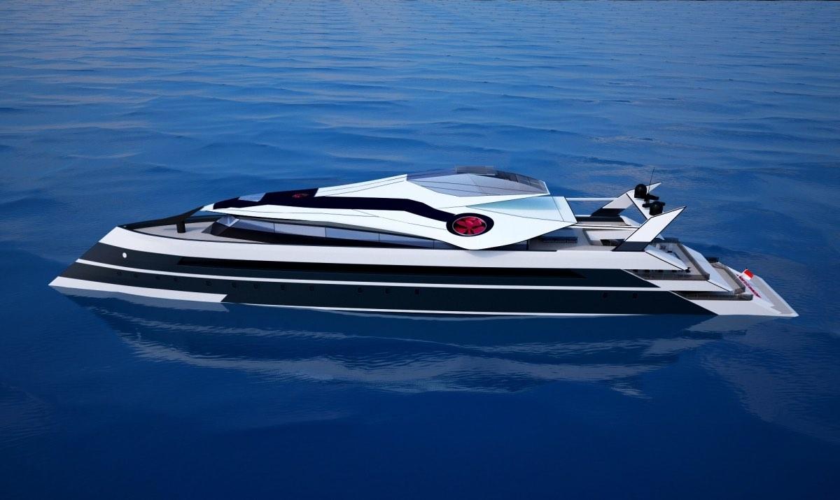 El concepto de superyate Monaco 2050 incluye un jet privado y una pista de aterrizaje y despegue vertical