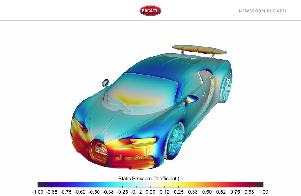 Bugatti Chiron y su poderoso sistema de refrigeración