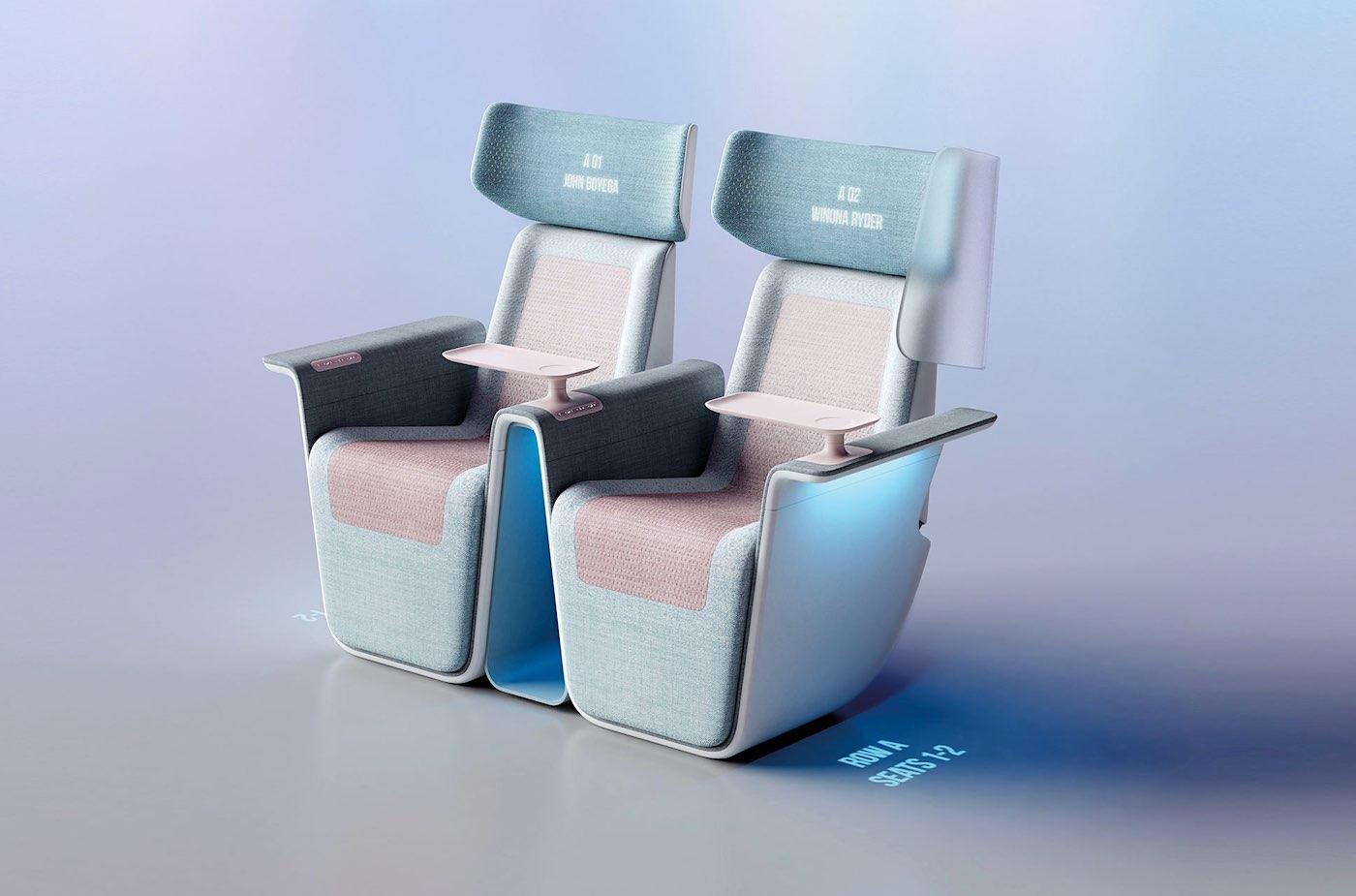 Sequel Seat, el asiento de cine post-coronavirus diseñado por Layer con tejido antivírico, pantallas y luces UV