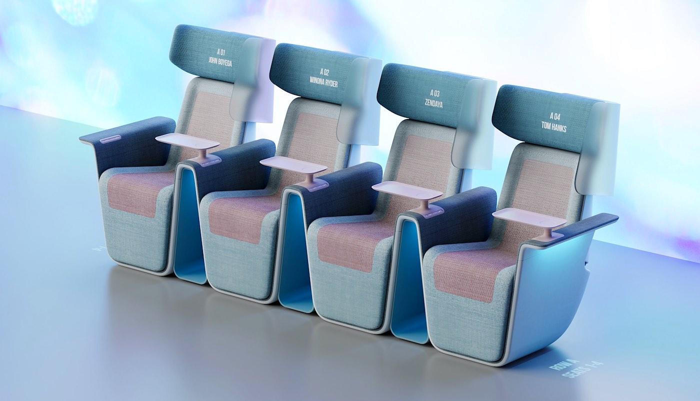 Así es el nuevo asiento de cine post-coronavirus de Layer Design