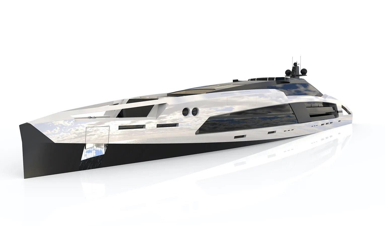 Facheris Design diseña Aqueous 120, un concepto de súperyate elaborado con vidrio y técnicas automotrices