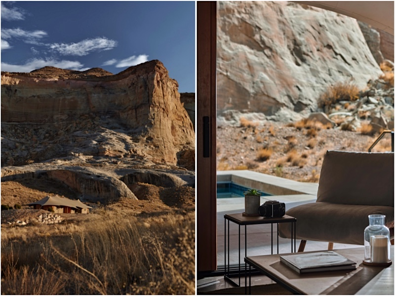 El campamento de lujo se encuentra asentado sobre 136 impresionantes acres de tierra en Utah.