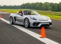 Nuevo récord mundial de eslalon con un Porsche 718 Spyder