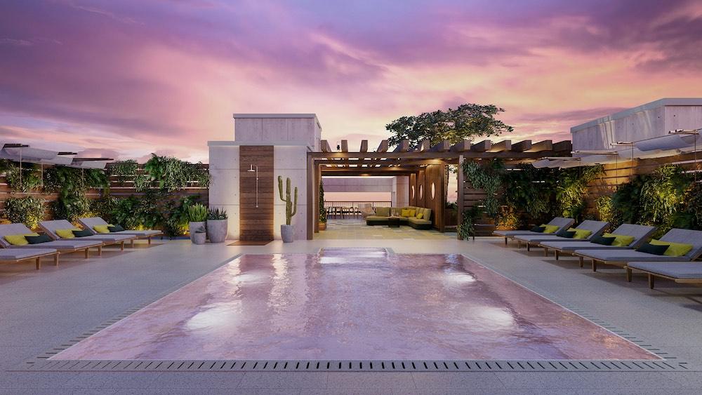 Ten30 South Beach, un enclave de condominios en Miami Beach inspirados en el diseño moderno de mediados de siglo y construidos por la firma urbanizadora Shoma Group.