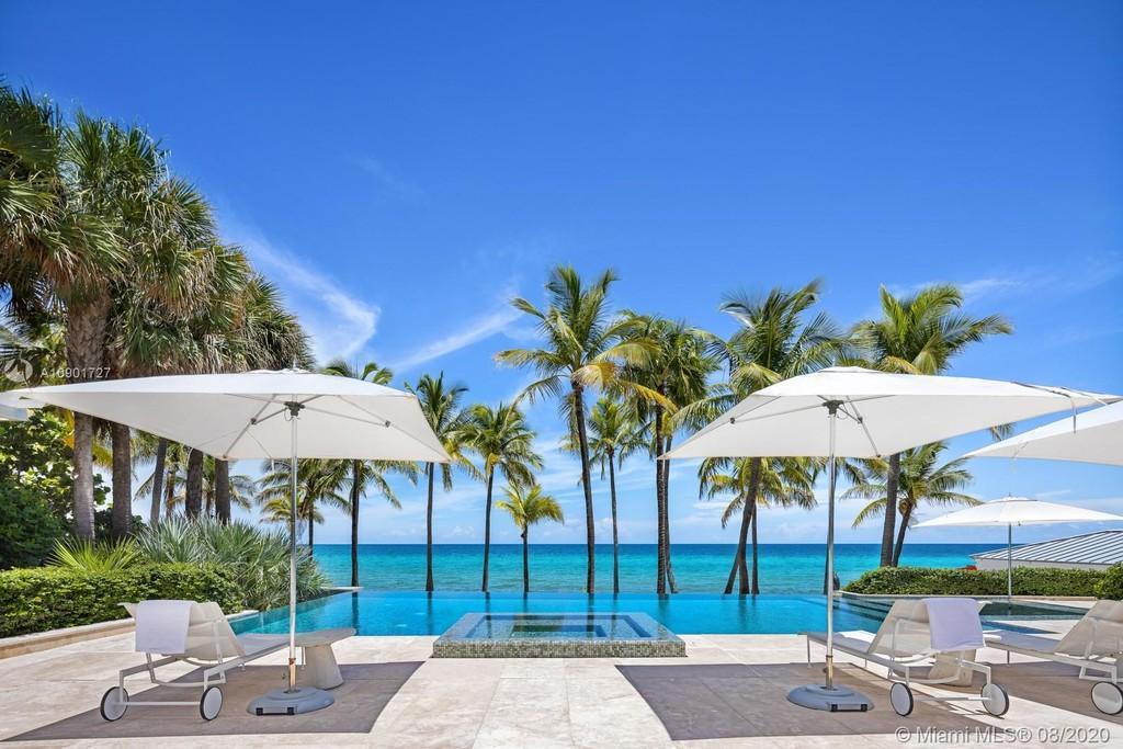 La mansión frente al mar, se encuentra en 605 Ocean Boulevard, Golden Beach, Miami, Florida.