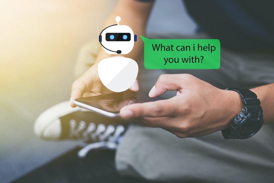 Concepto de chatbot AI.