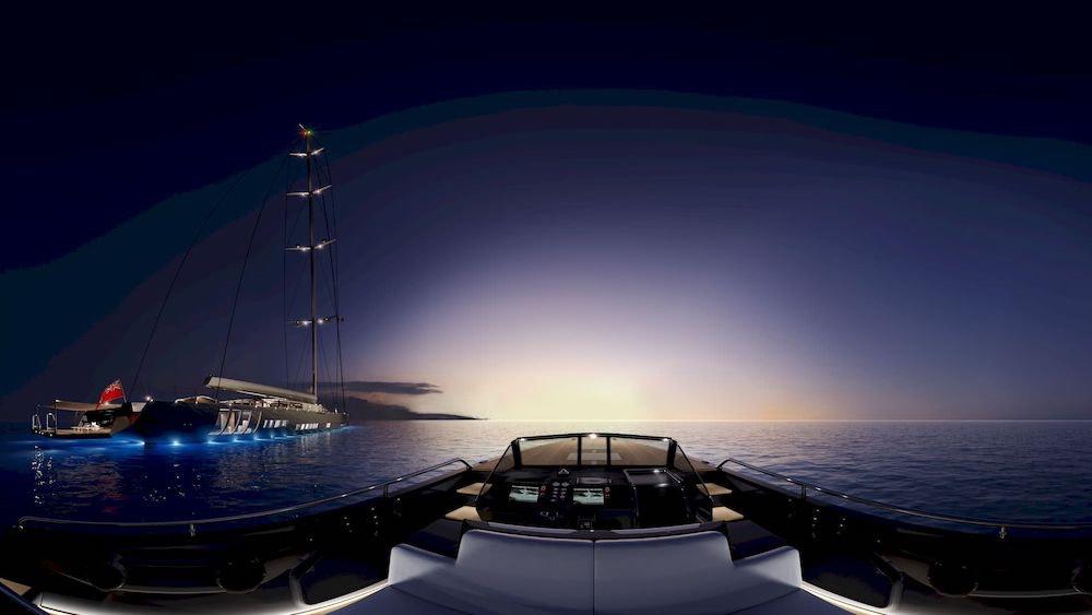 La embarcación será construida de aluminio y ofrecerá un manejo fácil y un crucero seguro, manteniendo el mantenimiento a un bajo nivel.