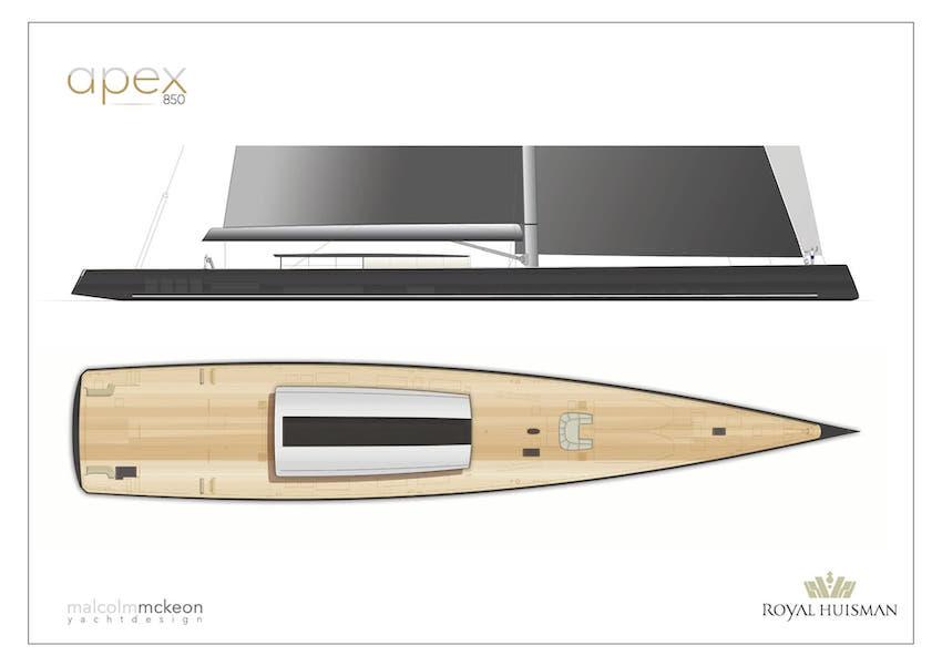 APEX 850, el nuevo concepto de yate de vela de 85m por Royal Huisman
