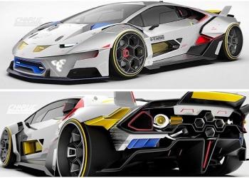 Lamborghini Gundam, el espectacular prototipo V10 inspirado en la serie de TV Mobile Suit Gundam