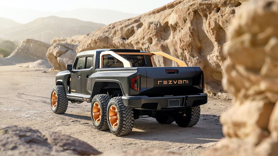 Rezvani Hércules 6x6: El Dios de todas las camionetas pick-up