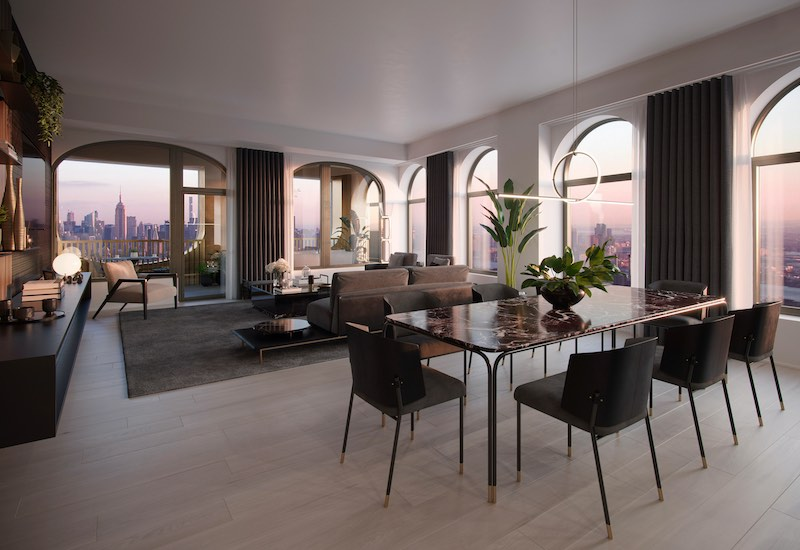 Apartamentos de lujo Aston Martin en Mahattan, Nueva York.