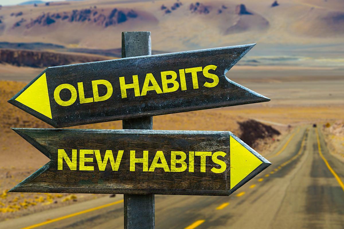 Hábitos viejos - poste indicador de hábitos nuevo