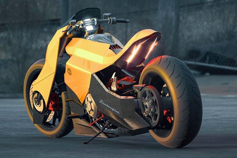 Este diseñador acaba de crear una bestial motocicleta Lamborghini bautizada Mangusta