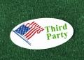 """La bandera estadounidense y las palabras """"Third Party"""""""