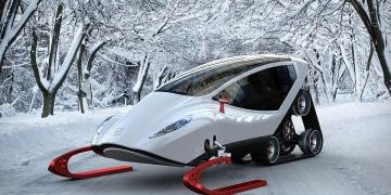 Snow Crawler: Excepcional moto de nieve concepto por Michal Bonikowski