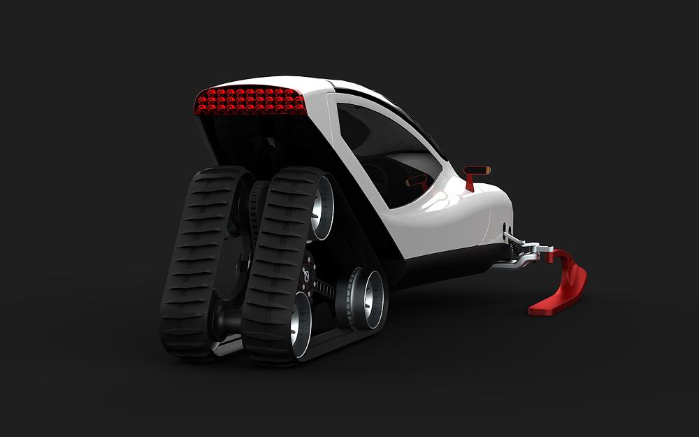 Snow Crawler: Excepcional motonieve concepto por Michal Bonikowski