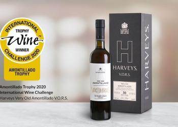 El mejor vino Amontillado del mundo 2020 es de Harveys