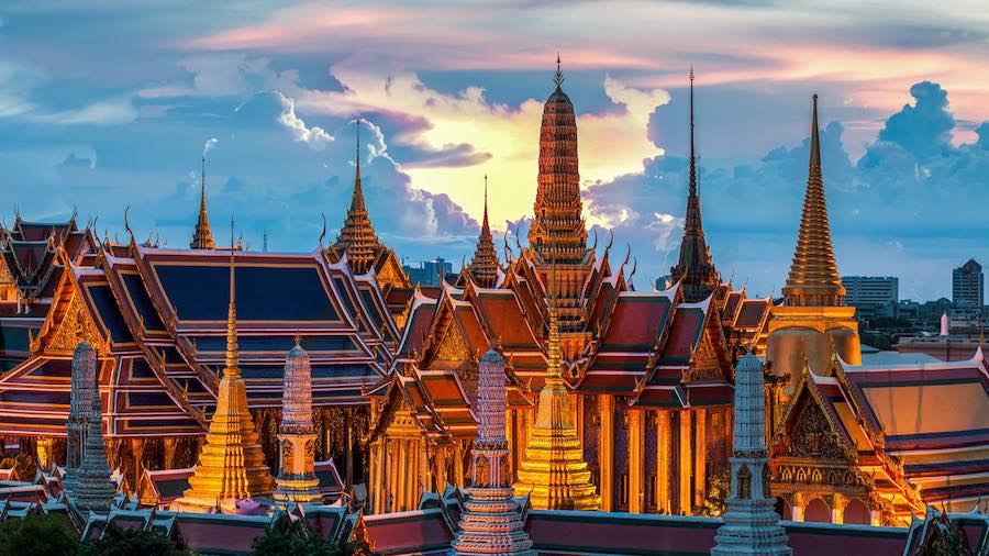 Explorar lugares antiguos en Bangkok, Tailandia