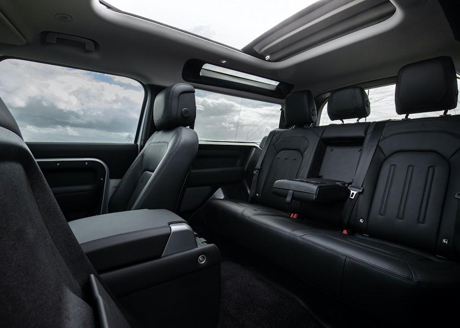 Interior de la nueva Land Rover Defender