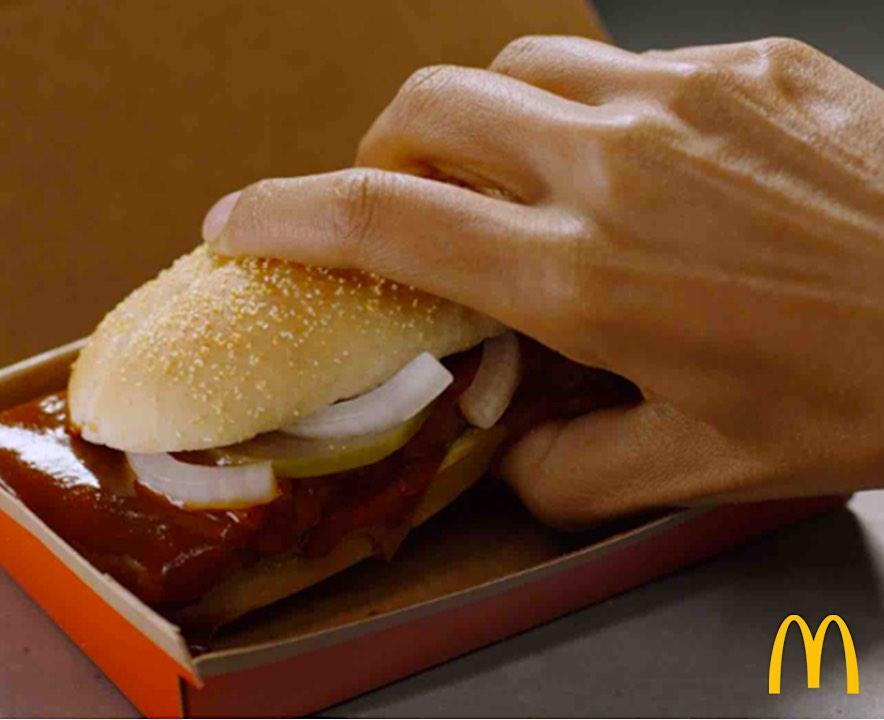 McDonald's está regalando 10.000 McRib sándwiches gratis a los fans que se afeiten el vello facial