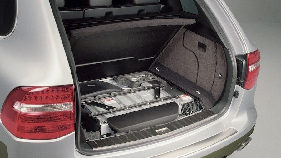 En 2007, Porsche presenta el primer prototipo del SUV con propulsión híbrida en paralelo (E1 II).