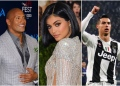 The Rock, Kylie Jenner, Cristiano Ronaldo