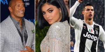 The Rock, Kylie Jenner, Cristiano Ronaldo