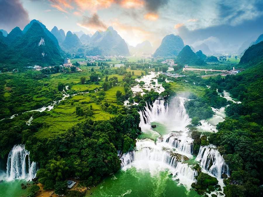 cascadas de Ban Gioc en Vietnam.