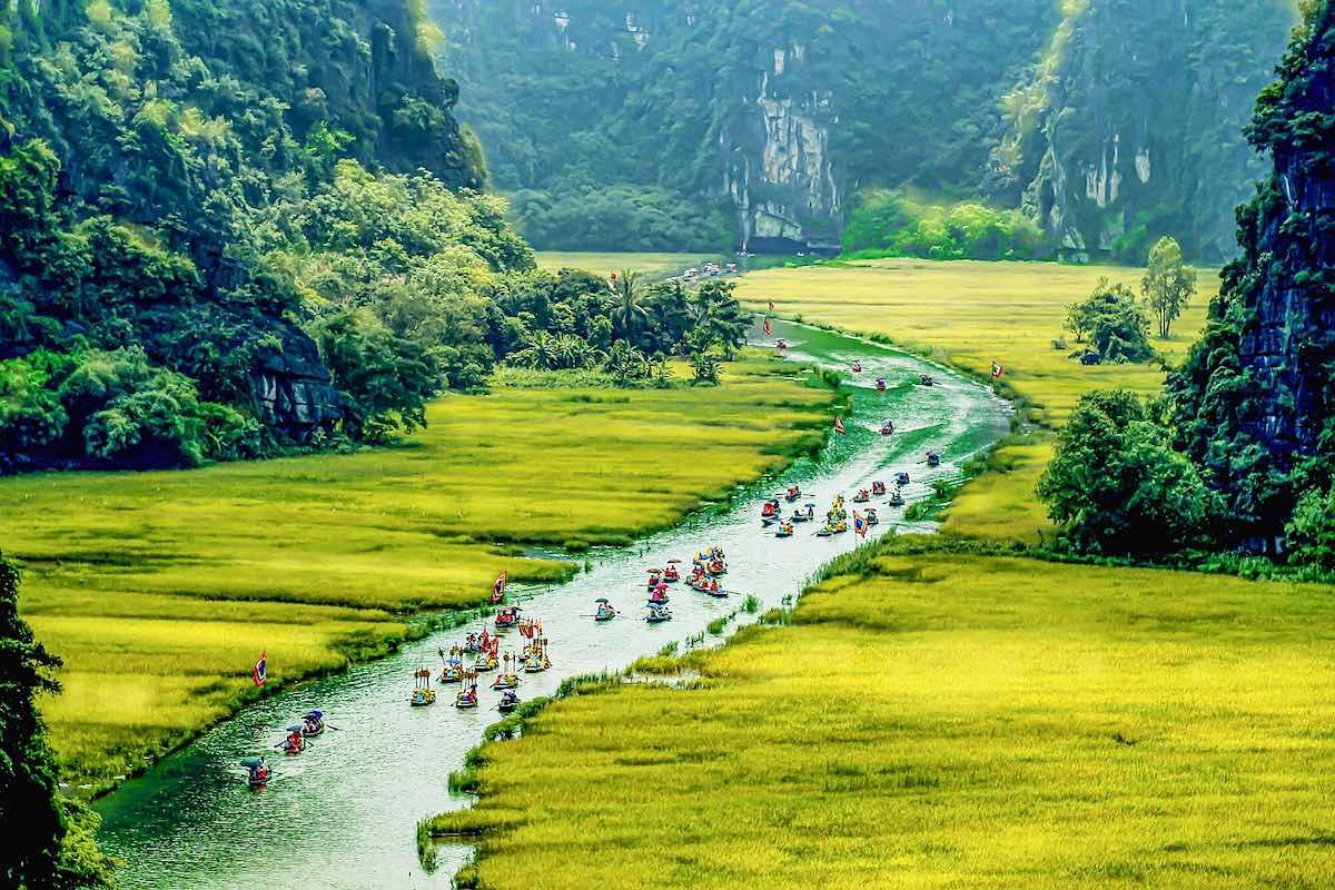 Tam Coc (Ninh Binh), Vietnam.