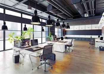 moderno y acogedor loft interior de oficina