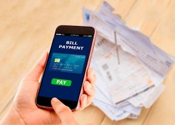 Pago de facturas en línea con un teléfono móvil