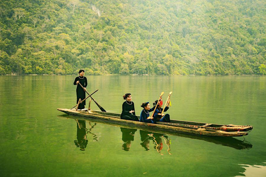 Lago Ba Be, provincia de Bac Kan, Vietnam