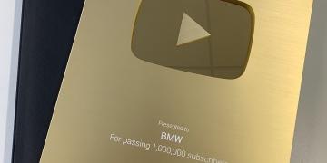 "YouTube le otorga a BMW el premio ""Golden Button Award"""