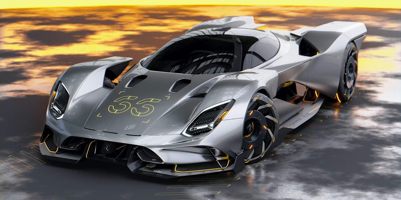 Diseñador visualiza este futurista Ferrari para el nuevo Cyberpunk 2077