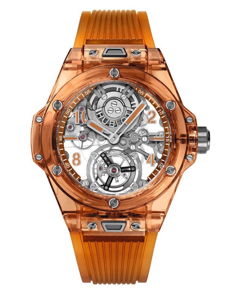 Solo se fabricarán 50 ejemplares del Big Bang Tourbillon Automatic Orange Sapphire.