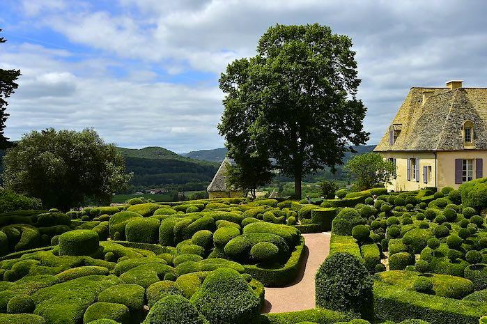 Jardines en Marqueyssac, Francia
