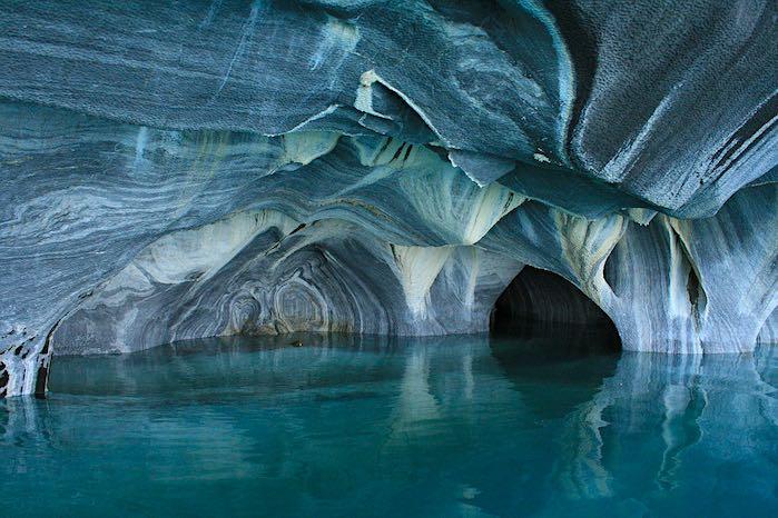 Cuevas de mármol del lago General Carrera, Chile