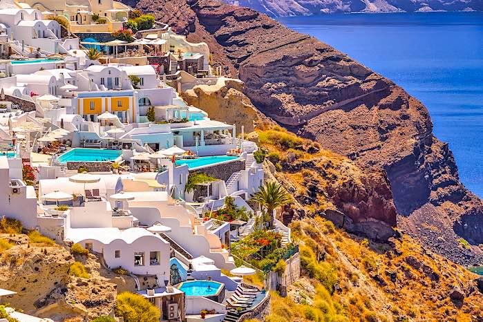 Piscinas naturales de Santorini, Grecia