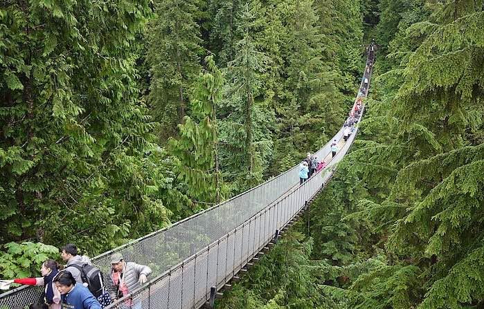 Puente colgante de Capilano, Vancouver, Canadá