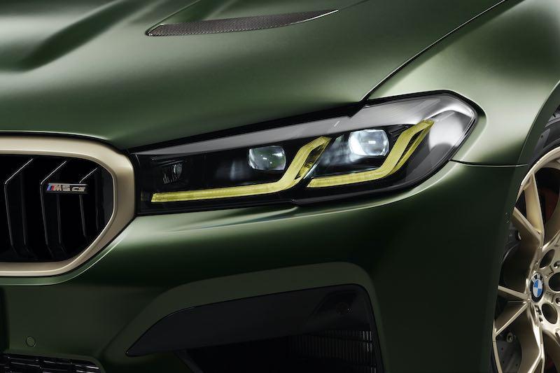 La firma lumínica en forma de L de los faros Laser de BMW se ilumina en amarillo en lugar de en blanco.