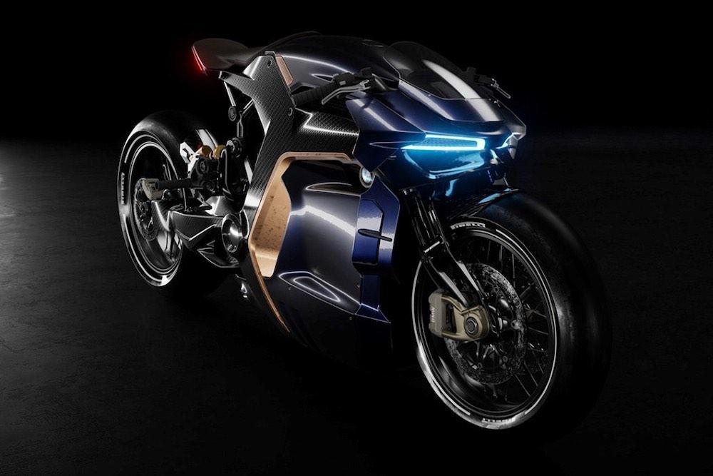 El diseñador Sabino Leerentveld ha creado un nuevo concepto de moto que sigue un enfoque minimalista y se inspira en los supercoches de carreras.