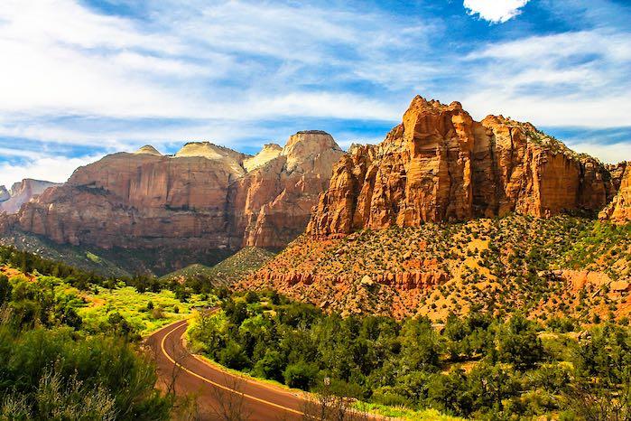 El parque nacional Zion, Utah